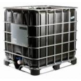Еврокубы емкости пластиковые пищевые черного цвета 1000 л на пластиковом паллете