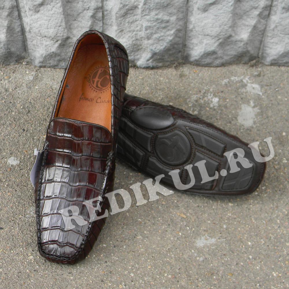 Мужские мокасины Redikul, Мексика Мокасины из кожи крокодила.