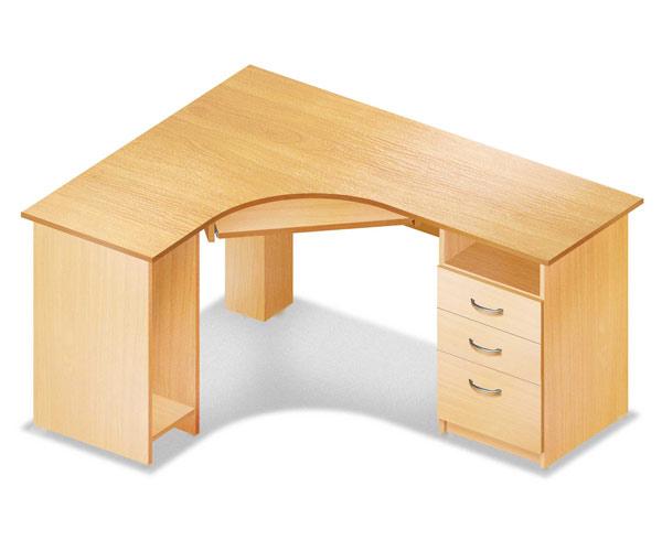 Стол компьютерный угловой с тумбой с ящиками 3410 руб. :: ст.