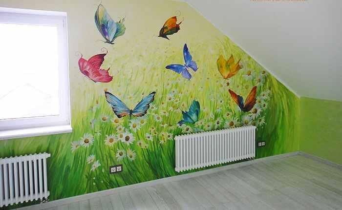 Чем разрисовать стену в детской