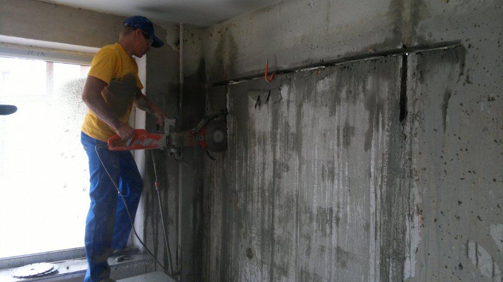 Как сделать проём в бетонной стене своими руками