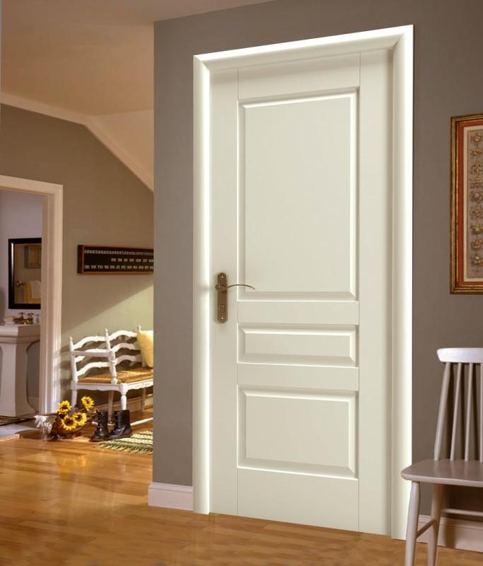 Красивые белые двери в интерьере