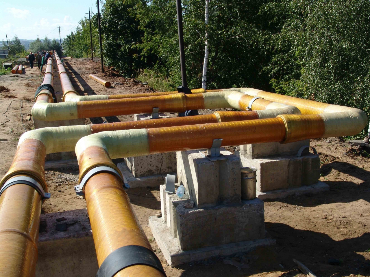 Монтаж надземных газопроводов