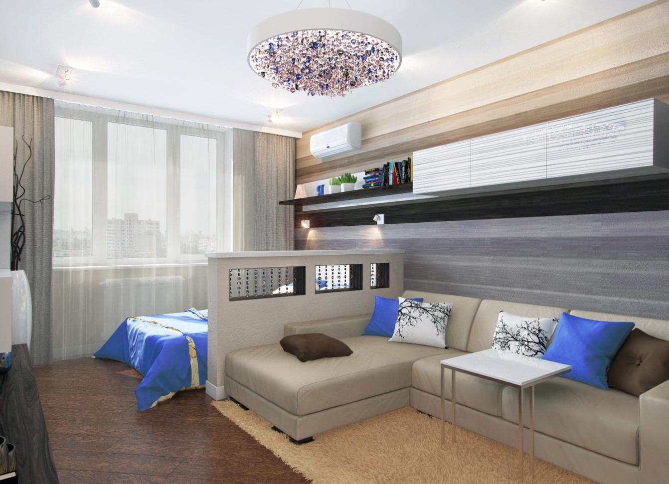 Интерьер гостиная спальня фото