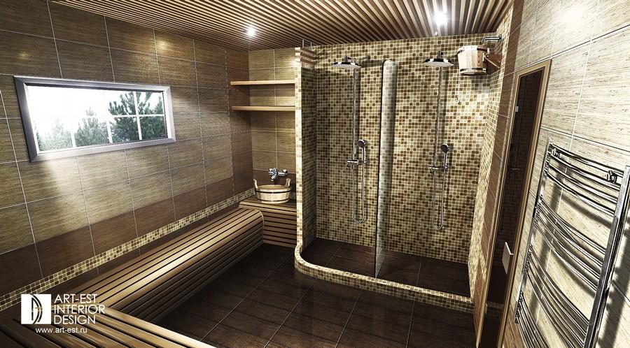 Дизайн помывочной в бани