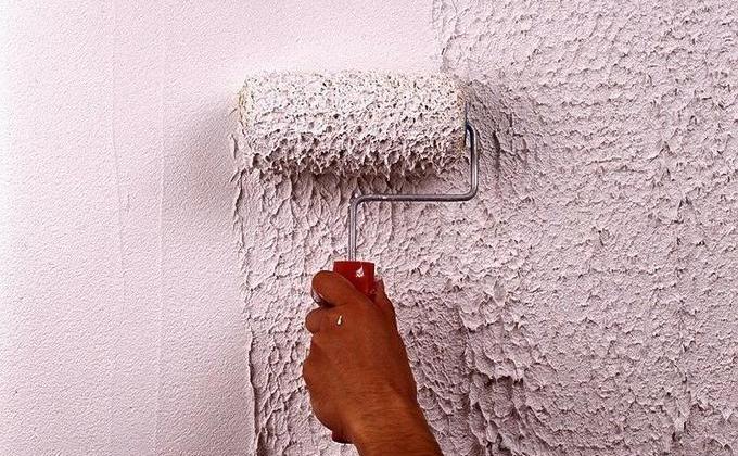 Фактурная шпаклевка для стен своими руками видео
