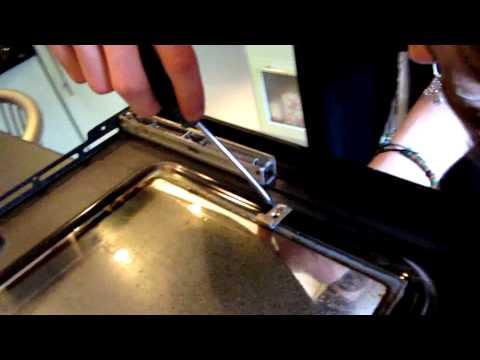 Как поменять стекло в духовке