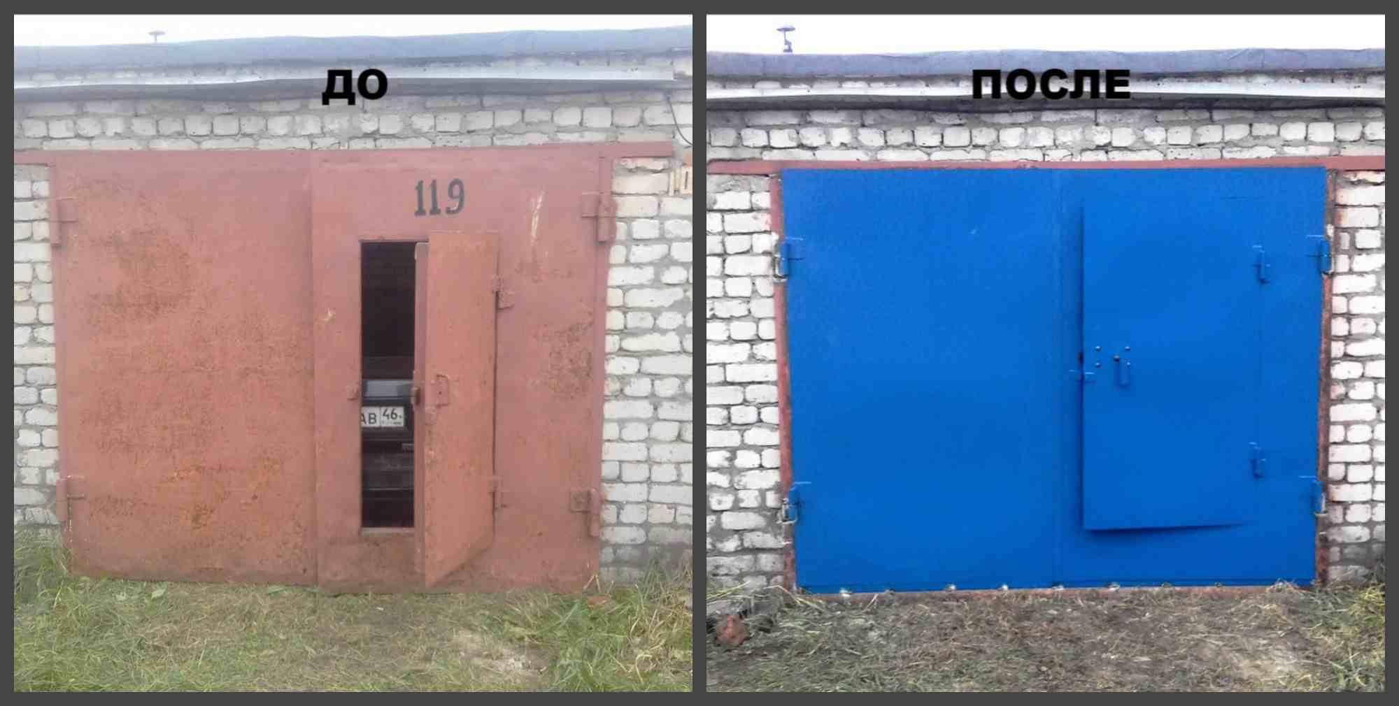 ворота для гаража металлические распашные рязань