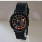 оригинальные бинарные часы на кожаном и силиконовом ремешке