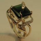 """Изготовление золотого мужского кольца """"Артемия"""" с турмалином и бриллиантами"""