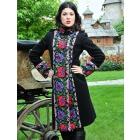 Женское пальто с цветочным орнаментом, модель К-1303