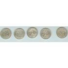 Пять серебрянных монет