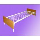 Двухъярусные железные кровати, для казарм, металлические кровати с ДСП спинками, кровати для бытовок, кровати оптом, От производителя