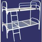 Двухъярусные железные кровати, для казарм, металлические кровати с ДСП спинками, кровати металлические для рабочих, кровати оптом.
