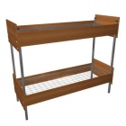 Кровати металлические для времянок, кровати металлические для рабочих, кровати для лагерей, кровати металлические с ДСП спинками для санаториев.
