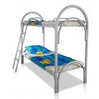Кровати металлические с ДСП спинками для санаториев, кровати для больниц, кровати для интернатов, кровати для общежитий.