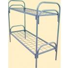 Кровати железные одноярусные для санаториев, кровати металлические с ДСП спинками для больниц, кровати по низким ценам.
