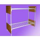 Кровати железные одноярусные для санаториев, кровати для рабочих, кровати для строителей, кровати для турбаз, оптом