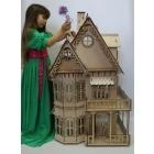 Новый.Эксклюзивный кукольный дом для Барби с подсветкой+мебель.