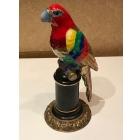 Фигурка попугай бронза фарфор