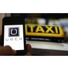 Водитель в такси uber