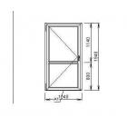 Дверь ПВХ 1940*1040, цвет белый, новая