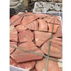 Камень природный Розовый с разводом песчаник натуральный