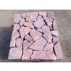 Песчаник галтованный Розовый с разводом камень натуральный природный