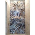 Панно из мраморной и стеклянной мозаики