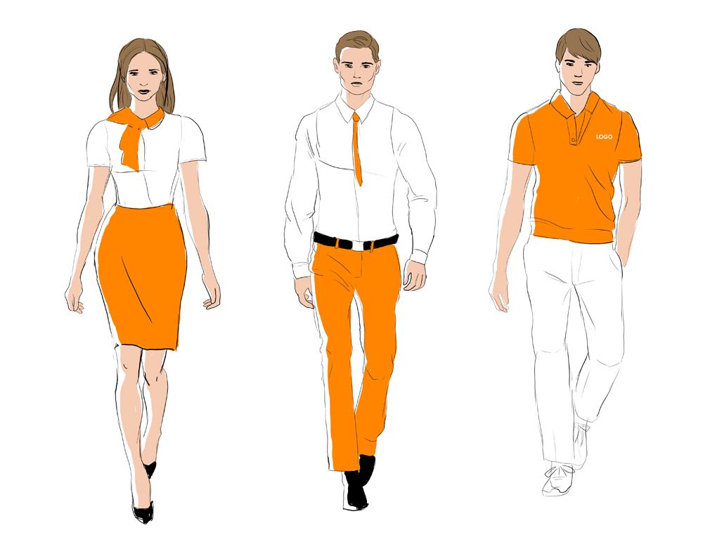 Эскизы деловых костюмов