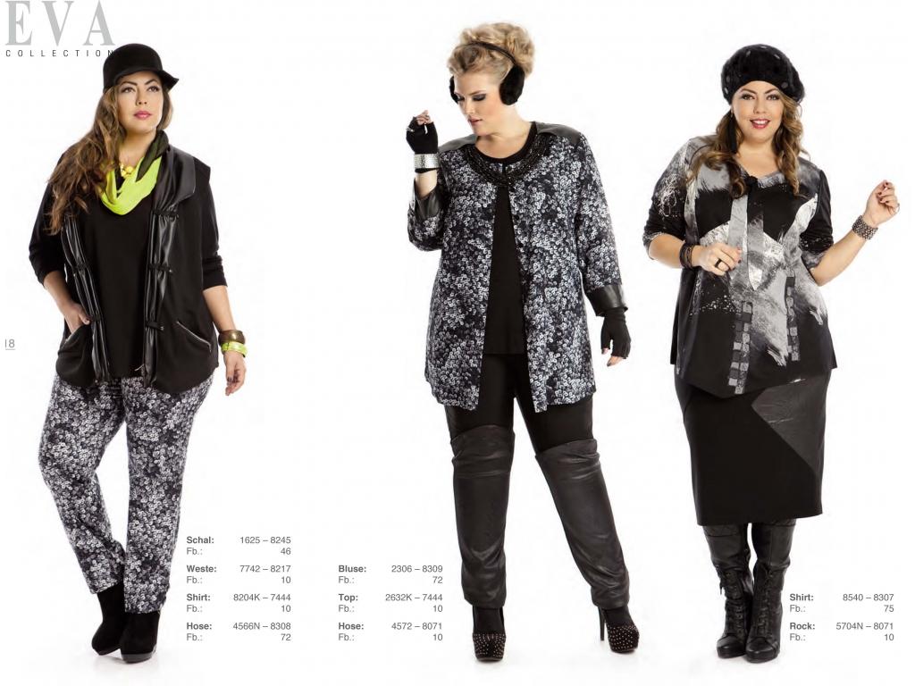 Одежда Для Полных Женщин Мода 2017